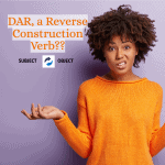 Is DAR a reserve construction verb?