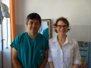 Dr. Mendez and I at his hospital in San Pedro La Laguna, Guatemala.