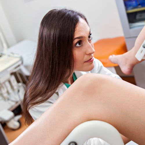 A gynecological exam